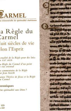 La règle du Carmel (n°123)