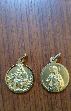 Médaille scapulaire plaqué or